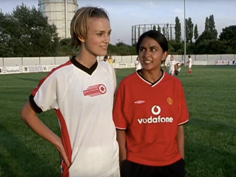 "Keira Knightley and Parminder Nagra in ""Bend It Like Beckham."""