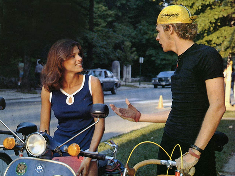 "In ""Breaking Away,"" Dennis Christopher plays a bicycle racing enthusiast who dreams of racing with the pros."