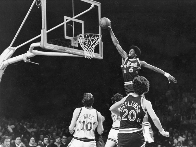 dde78a2e489d Julius Erving changed the game of basketball with his amazing dunking  ability.