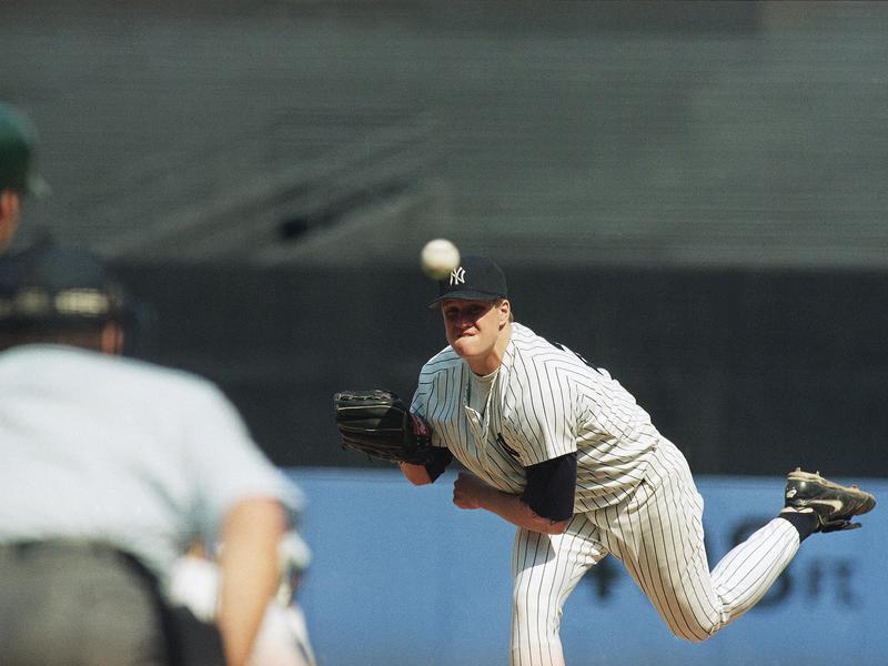 Autographs-original Rapture Preowned New York Yankees Hanging Bat Display Case