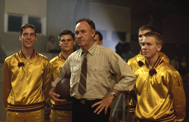 "Gene Hackman and his team in ""Hoosiers."""