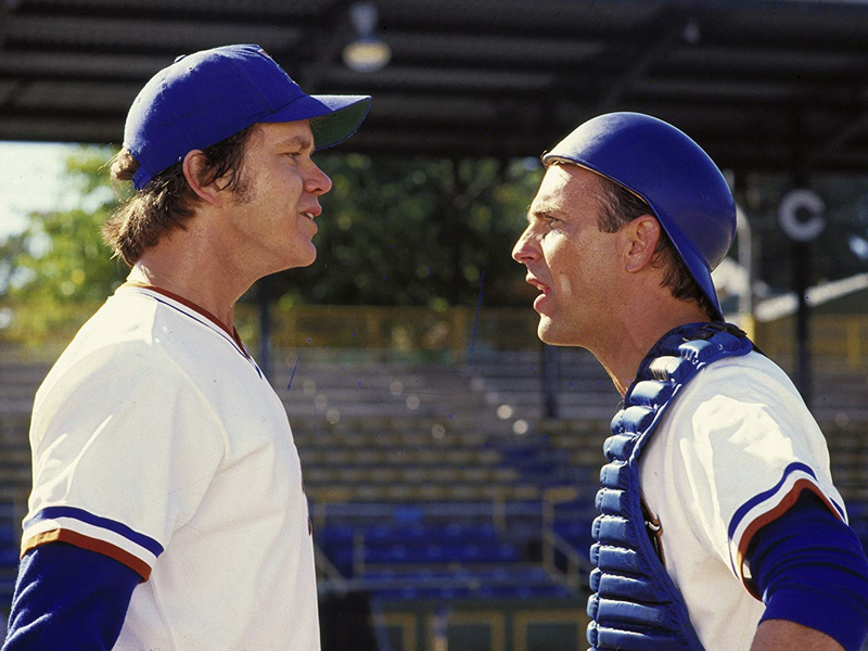 "Tim Robbins and Kevin Costner in ""Bull Durham."""